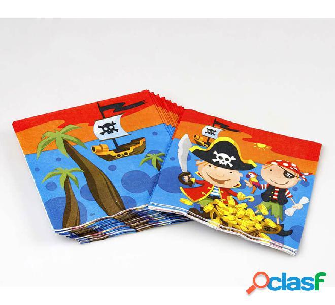 Bolsa de 20 Servilletas de Piratas de 16x16 cm
