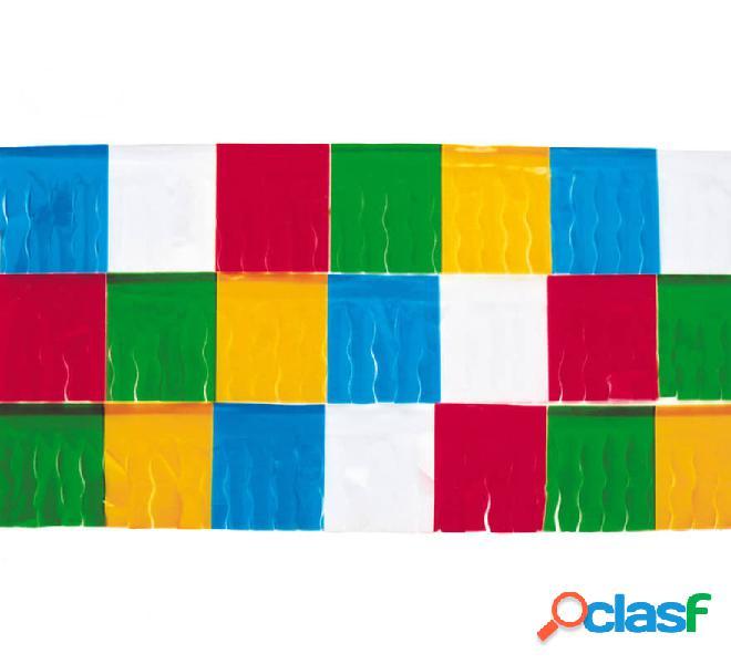 Bolsa de 25 mts. de Fleco de plástico Multicolor