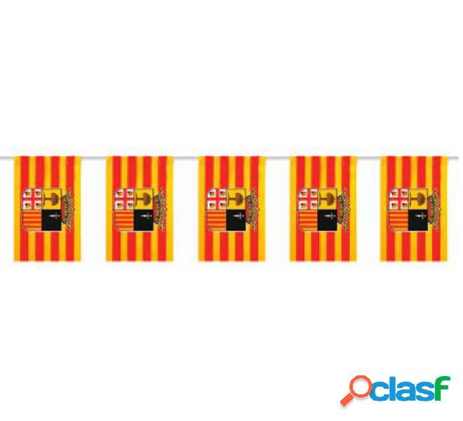 Bolsa de 50m. Bandera de Aragón de plástico