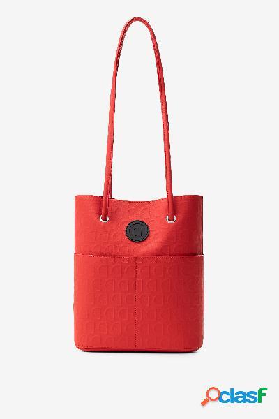 Bolso rojo 2 en 1 en logomanía - RED - U