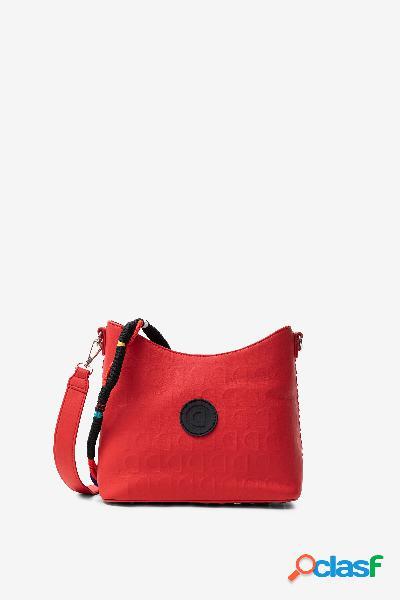 Bolso rojo en logomanía - RED - U