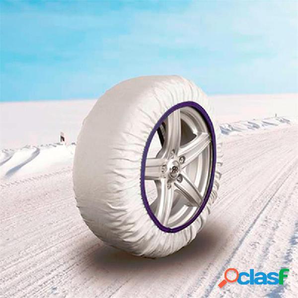 CAD8015 EASYSOCK - Juego de 2 cadenas textiles de nieve para