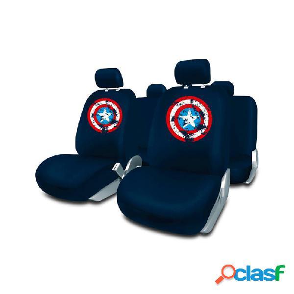 CAPA100 - Juego fundas coche azul Capitan América