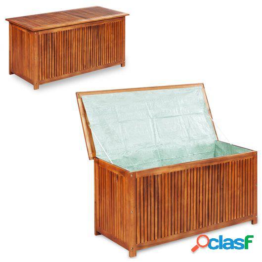 Caja de almacenaje de jardín 150x50x58 cm madera maciza