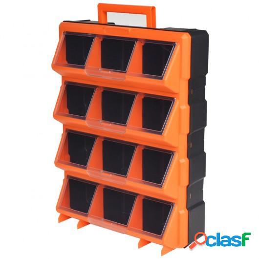 Caja de herramientas de pared portátil con 12