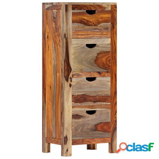 Cajonera de madera maciza de sheesham 40x30x100 cm