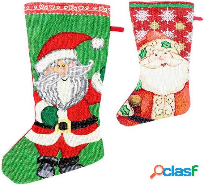 Calcetín de Papá Noel de 45 cm en varios colores