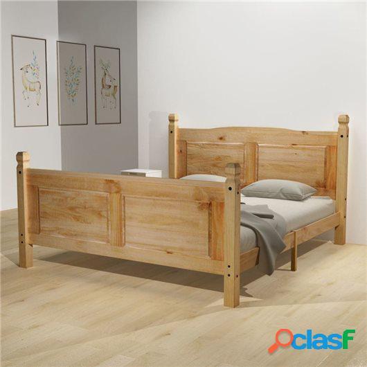 Cama con colchón Mexican Pine Corona 160x200 cm