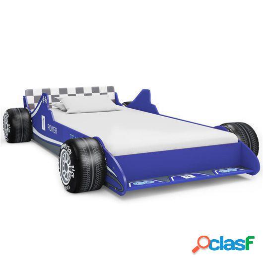 Cama con forma de coche de carreras para niños 90x200 cm