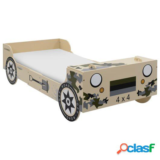 Cama con forma de coche todoterreno niños 90x200 cm