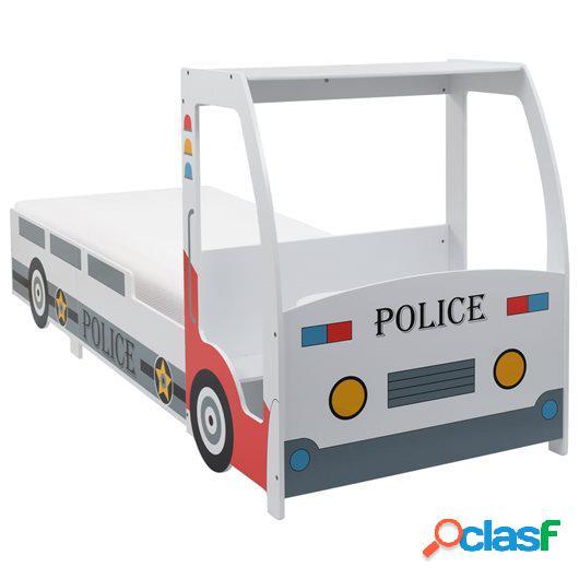 Cama infantil coche de policía colchón 7 zonas H3 90x200