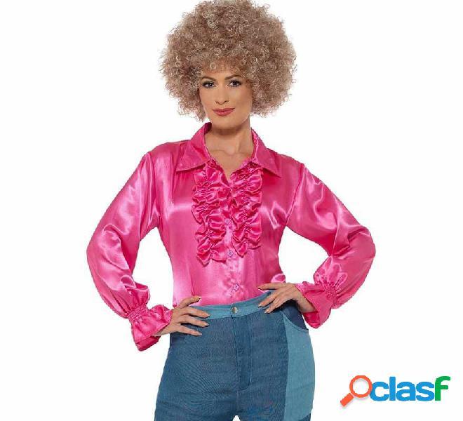 Camisa con Volantes de Hippie Rosa para mujer