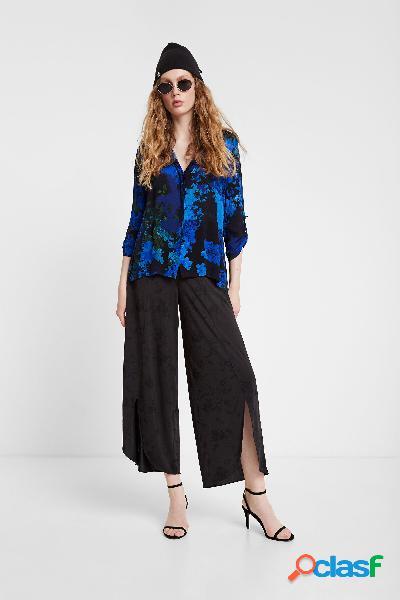 Camisa de camuflaje floral - BLUE - XXL