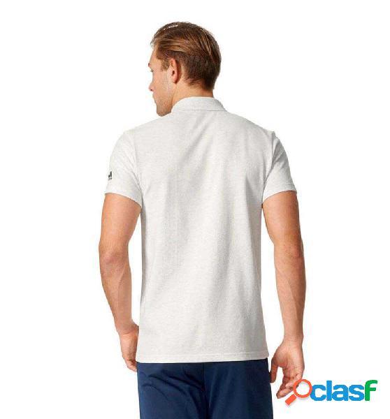 Camiseta Casual Adidas Ess Base Polo Blanco L