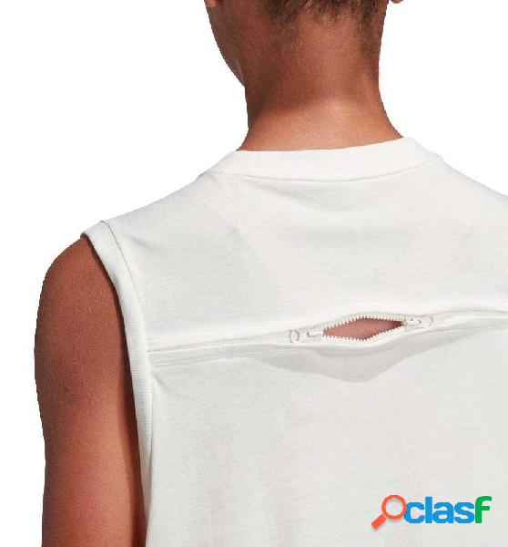 Camiseta Casual Adidas Logo Blanco M
