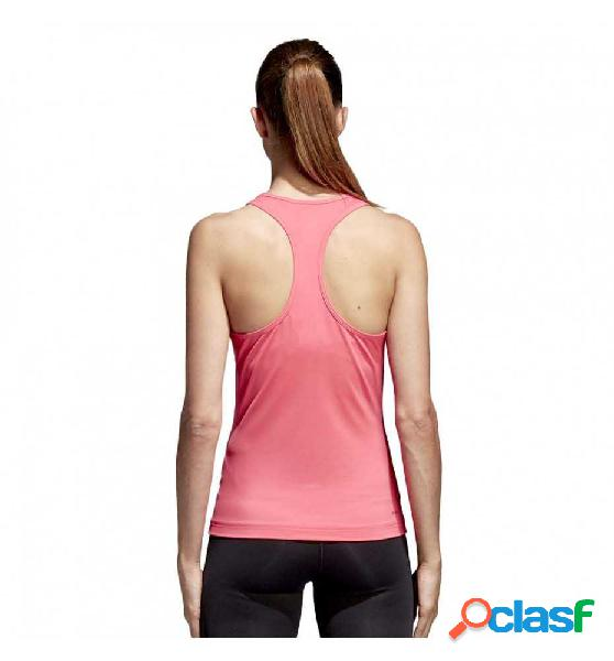 Camiseta De Tiantes Fitness Adidas D2m Tank Solid Rosa S