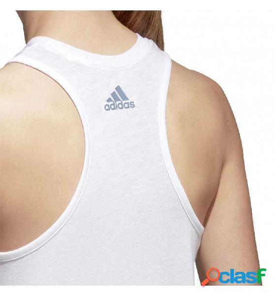 Camiseta De Tirantes Casual Adidas Logo Cool Tank Blanco M