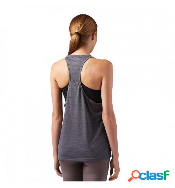 Camiseta De Tirantes Para Running Reebok Mujer Gris M