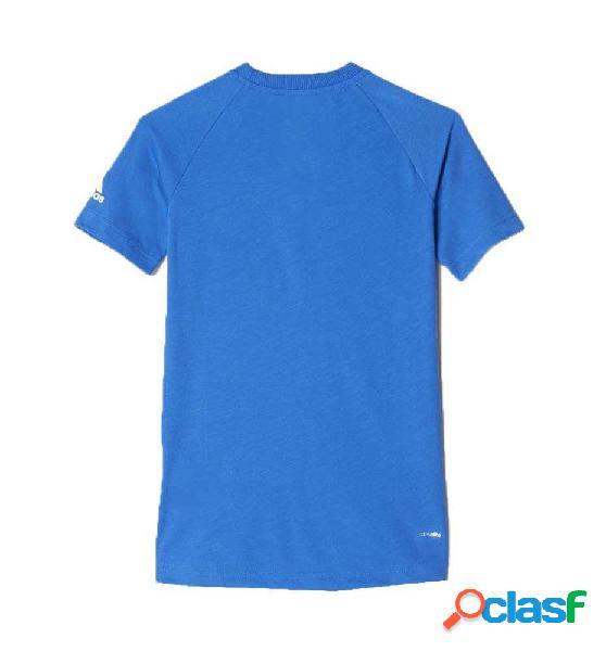 Camiseta Fitness Adidas Ace Grap Tee 152 Azul