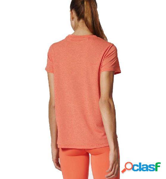 Camiseta Fitness Adidas Core Chill Tee Naranja S