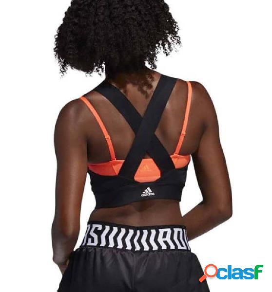 Camiseta Fitness Adidas Tko Crop Negro S