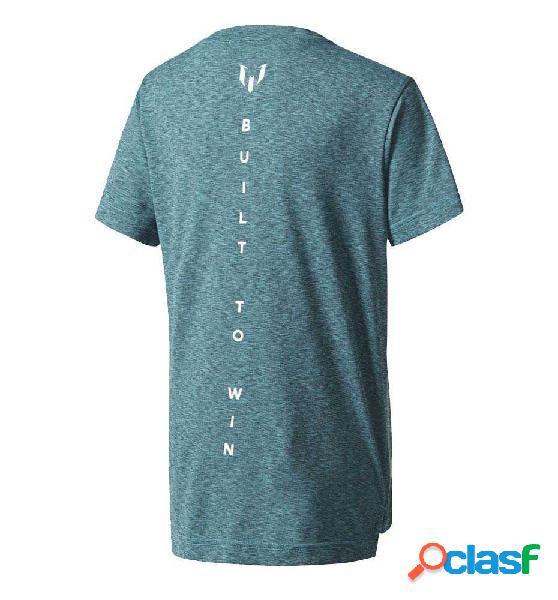 Camiseta Fitness Adidas Yb M Ml Tee 164 Azul