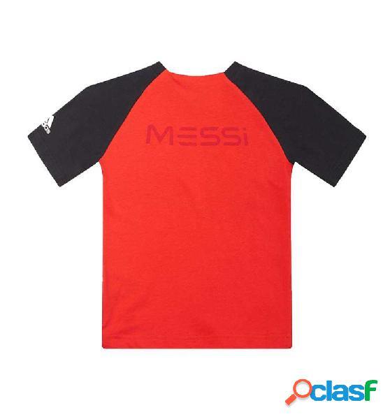 Camiseta Fitness Adidas Yb Messi Grap T 164 Rojo