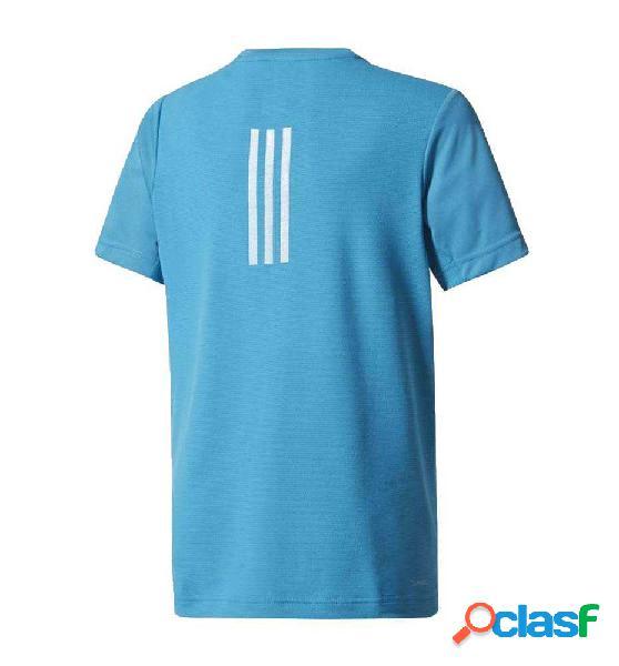 Camiseta Fitness Adidas Yb Run Tee 152 Azul