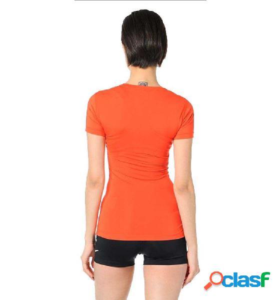 Camiseta Fitness Nike Pro Cool Graphic Naranja Xs