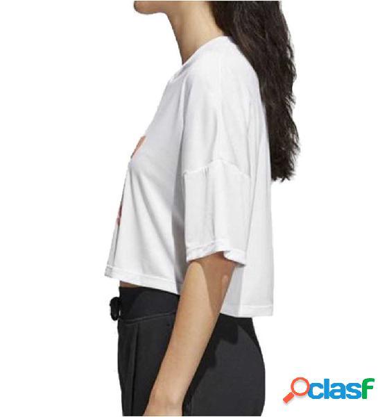 Camiseta M/c Adidas Trefoil Tshirt 38 Blanco