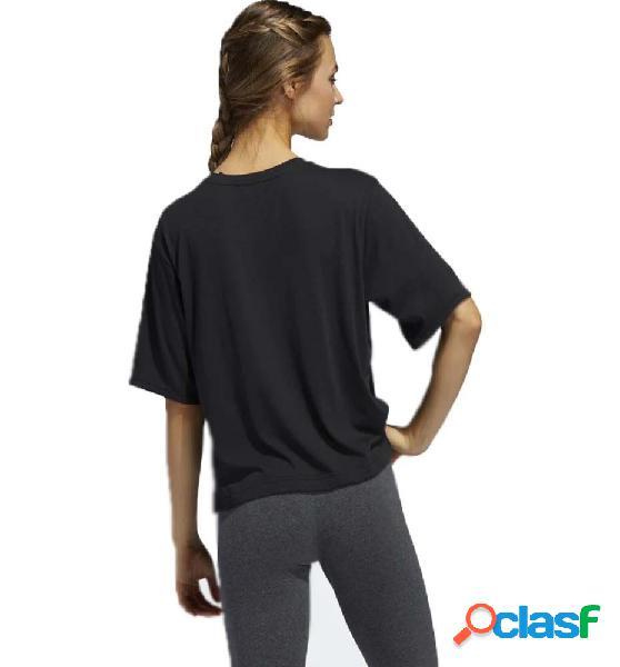 Camiseta M/c Casual Adidas Univ Tee 1 W M Negro