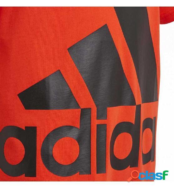 Camiseta M/c Casual Adidas Yb Big Logo Tee 152 Rojo