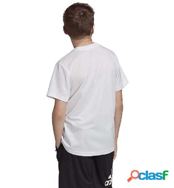 Camiseta M/c Casual Adidas Yb Tr A Tee 140 Blanco