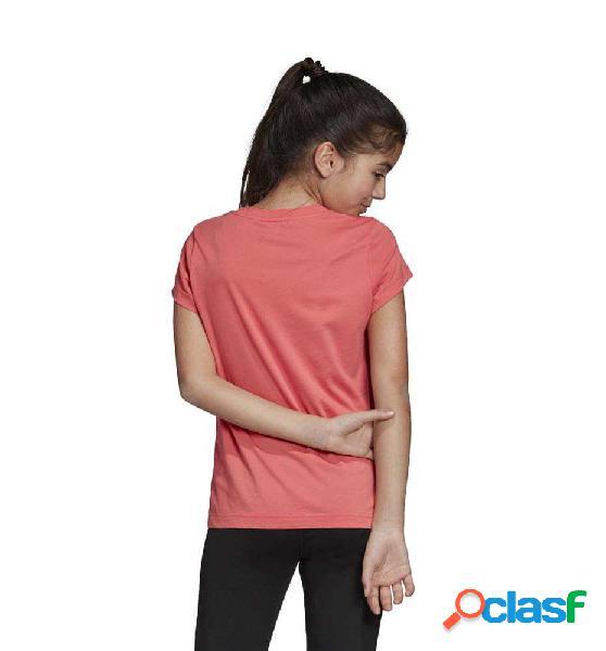 Camiseta M/c Casual Adidas Yg E Lin Tee 140 Rosa