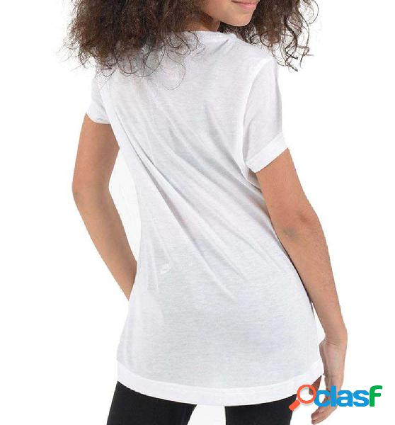 Camiseta M/c Casual Adidas Yg Mh Bos Tee 152 Blanco