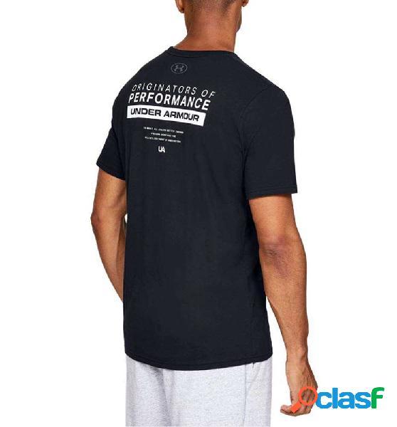 Camiseta M/c Casual Under Armour Perf Origin Bar Ss M Negro
