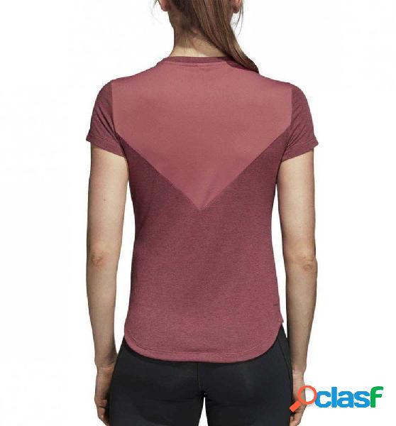 Camiseta M/c Fitness Adidas Prime Tee Mix M Rojo