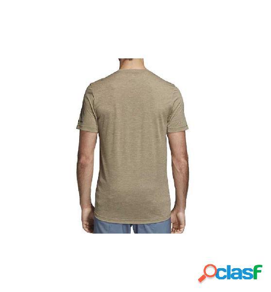 Camiseta M/c Fitness Adidas Tivid Tee 186 Beige