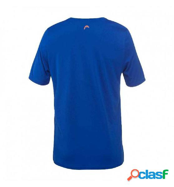 Camiseta M/c Padel Head Basic Tech Tshirt 152 Azul