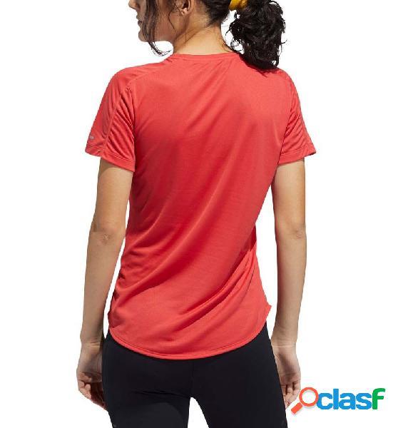 Camiseta M/c Running Adidas Run It Tee 3s W M Rojo