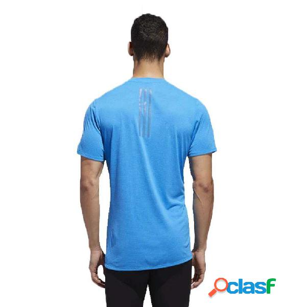 Camiseta M/c Running Adidas Supernova Tee Azul L