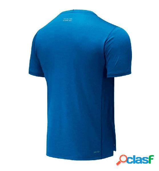 Camiseta M/c Running New Balance Impact Run Ss Azul M