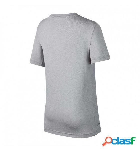 Camiseta M/c Running Nike B´ Dry Miler Top Running Gris M