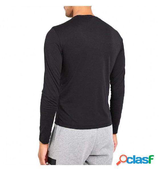 Camiseta M/l Casual Armani Train Logo Tee Ls Premium M Negro