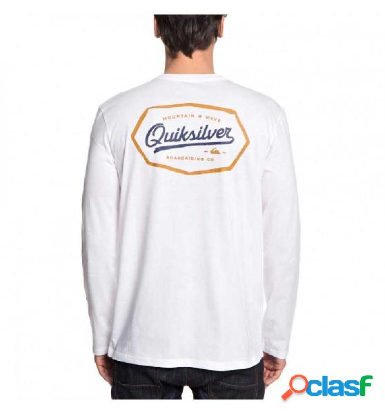 Camiseta M/l Casual Quiksilver Livonedgels Blanco L