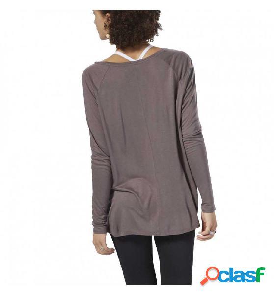 Camiseta M/l Casual Reebok Ts Long Sleeve Tee Almgre Lila M