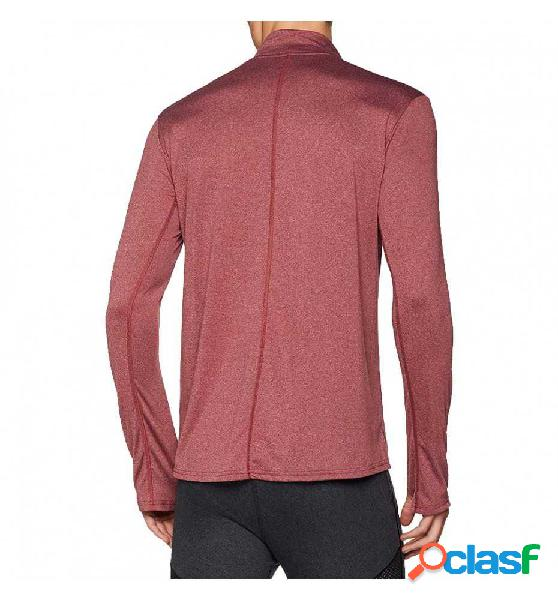 Camiseta M/l Running Adidas Rs Ls Zip Tee M L Rojo
