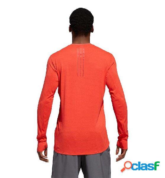 Camiseta M/l Running Adidas Sn Ls Tee M M Rojo