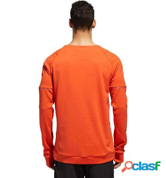 Camiseta M/l Running Adidas Sn Run Cru M Naranja S