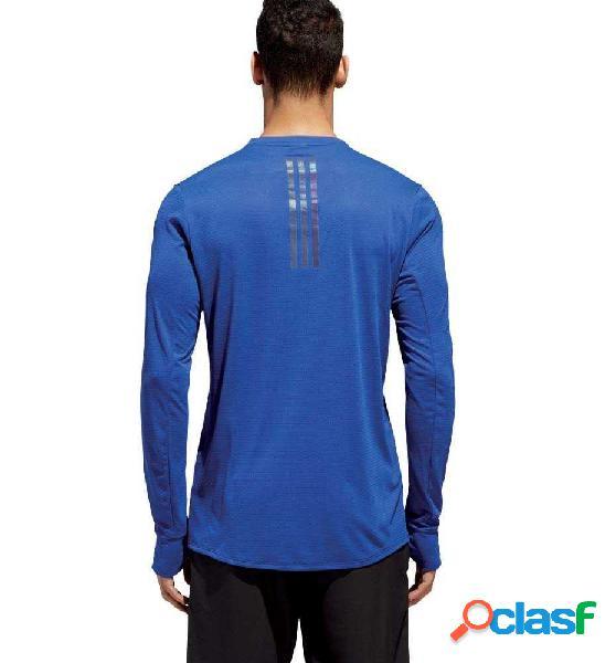 Camiseta M/l Running Adidas Supernova Tee Azul S
